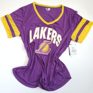 Lakers Mesh V Neck Jersey Purple & Gold New Era